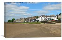 Arnside Village. , Canvas Print