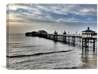 Sunset over North Pier. Blackpool., Canvas Print