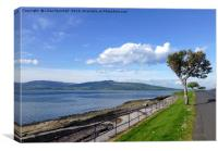 Rothesay promenade and beach., Canvas Print