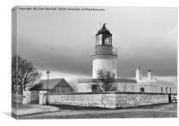 A grey day over Cromarty Lighthouse Field Station., Canvas Print