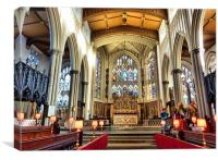 The Alter of St Peters Parish Church Leeds., Canvas Print
