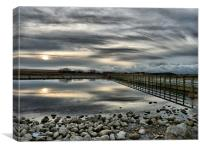 Sunset on Fleetwood Nature Reserve., Canvas Print