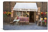 Boutique in Toscany, Canvas Print