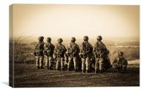 Soldiers on a hill, Canvas Print