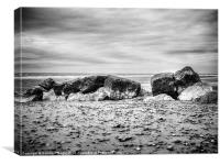 Cleveleys Beach, Canvas Print