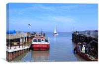 Fleetwood to Knott End Ferry, Canvas Print