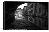 Rochdale Canal at Hebden Bridge, Canvas Print