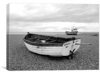 Two Boats at Aldeburgh, Canvas Print