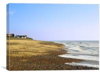 Swimming Time At Thorpeness, Canvas Print