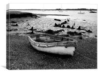 Rowing Boat at Orford Ness, Canvas Print