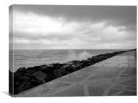 Wet and Wild in Yarmouth, Canvas Print