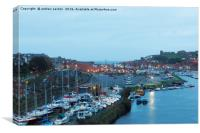 WHITBY BY LIGHT, Canvas Print