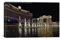 Bellagio Fountains., Canvas Print