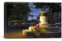 Merchant Navy Monument Bristol., Canvas Print