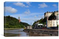 Bristol Suspension Bridge., Canvas Print