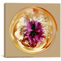 Spherical paperweight Peon, Canvas Print