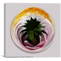 Spherical Glass paperweight Lillysphere, Canvas Print