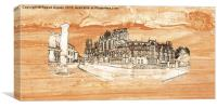 York Minster Panoramic on wood, Canvas Print