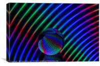 Abstract art Colours in the crystal round, Canvas Print