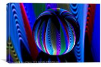 Abstract art Colours in the crystal ball, Canvas Print