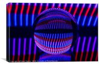 Abstract art Red and Blue in the glass ball, Canvas Print