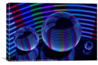 Abstract art Spiral Lights in the crystal ball, Canvas Print