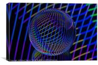 Abstract art Bright lines in the ball, Canvas Print