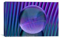 Abstract art Crystal ball lines 3, Canvas Print
