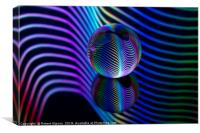 Abstract art Rainbows in the glass ball., Canvas Print