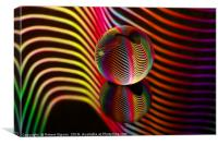 Abstract art Rainbows two in the glass ball., Canvas Print