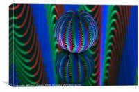 Abstract art Segments in the crystal ball, Canvas Print