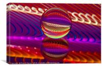 Abstract art Brilliance in the crystal ball, Canvas Print