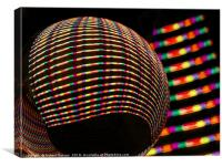 Candy coloured stripes, Canvas Print