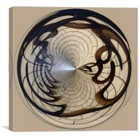 Spherical Urban Art, Canvas Print
