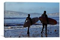Surfing Isle of Wight Canvases & Prints, Canvas Print