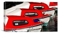 Red Boats, Lyme Regis Canvases & Prints, Canvas Print