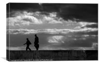 Evening stroll Silhouette Canvases & Prints, Canvas Print