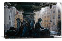 Fountain at Rossio Square, Canvases & Prints, Canvas Print