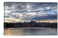 Prague Castle at dusk, Canvas Print