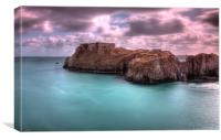 St Catherines Rock, Tenby, Canvas Print