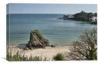 Goscar Rock, Tenby, Canvas Print