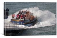 Lifeboat Launch, Canvas Print