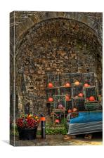Lobster Pot Arch, Canvas Print