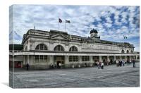 Cardiff Central Railway Station, Canvas Print