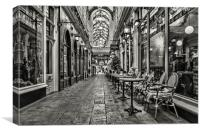 Arcade Cafe Mono, Canvas Print