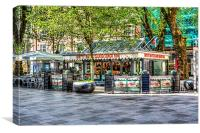Hayes Island Snack Bar Cardiff, Canvas Print