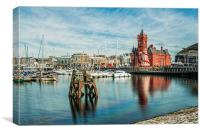 Cardiff Bay And The Pierhead Building Long Exposur, Canvas Print