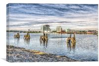 Cardiff Bay Towards St Davids Hotel, Canvas Print