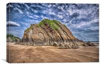 Goscar Rock Tenby, Canvas Print