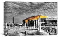 Wales Millennium Centre Pop 1, Canvas Print